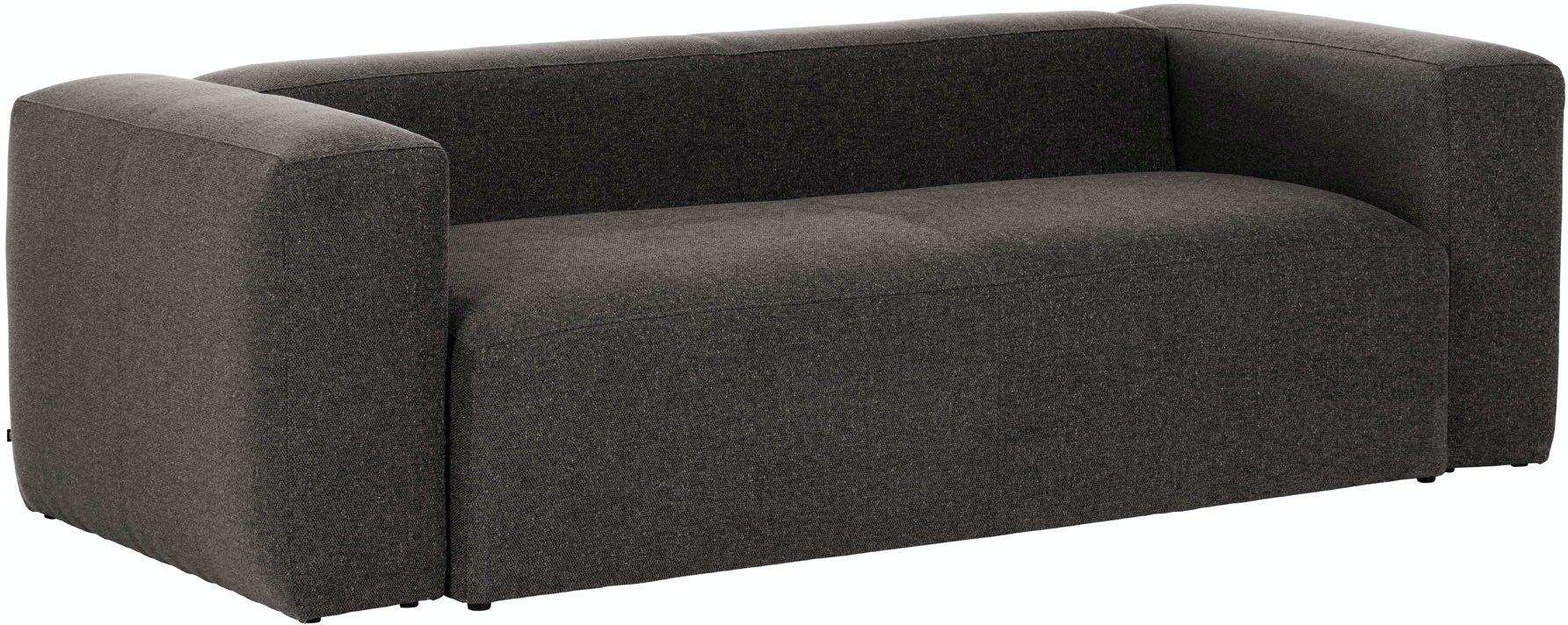 Blok, 3-personers sofa, Stof by LaForma (H: 69 cm. B: 240 cm. L: 100 cm., Grå)