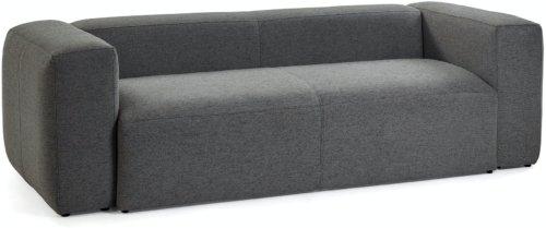 På billedet ser du variationen Blok, 3-personers sofa, Stof fra brandet LaForma i en størrelse H: 69 cm. B: 240 cm. L: 100 cm. i farven Sort