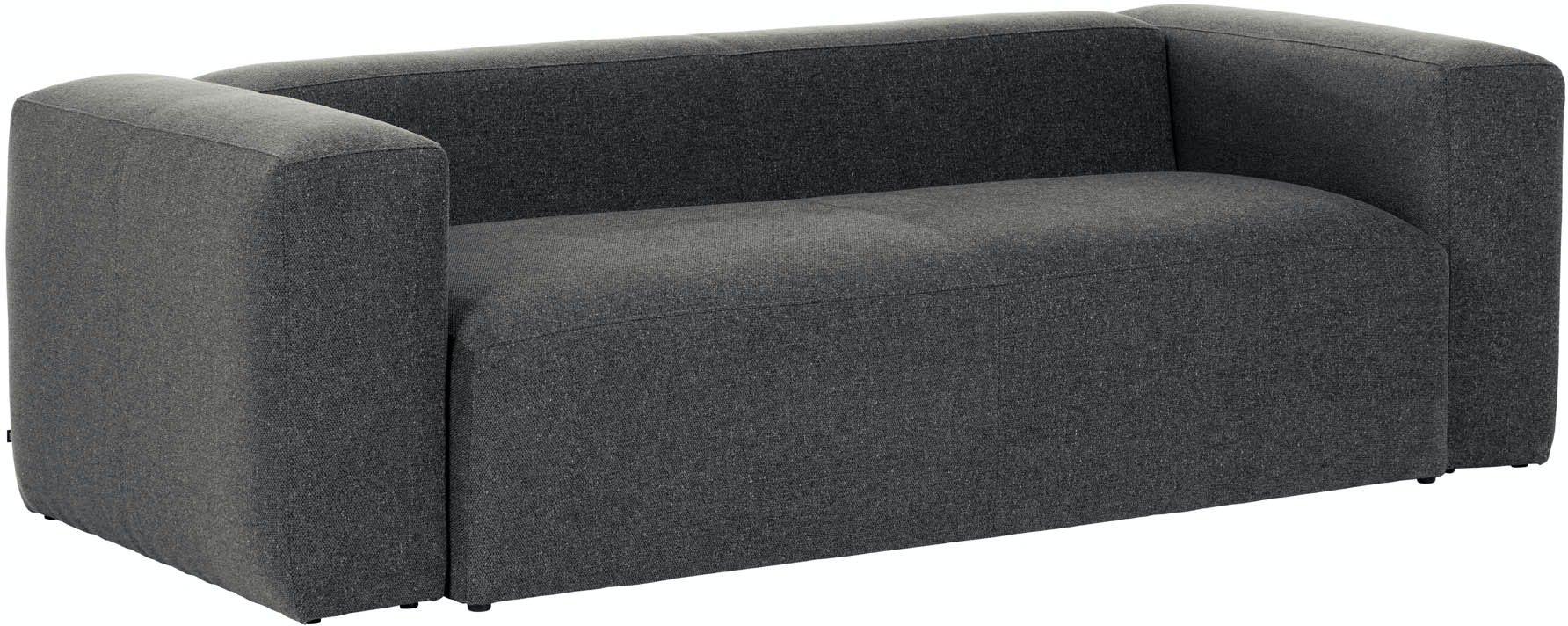 Blok, 3-personers sofa, Stof by LaForma (H: 69 cm. B: 210 cm. L: 100 cm., Grå)