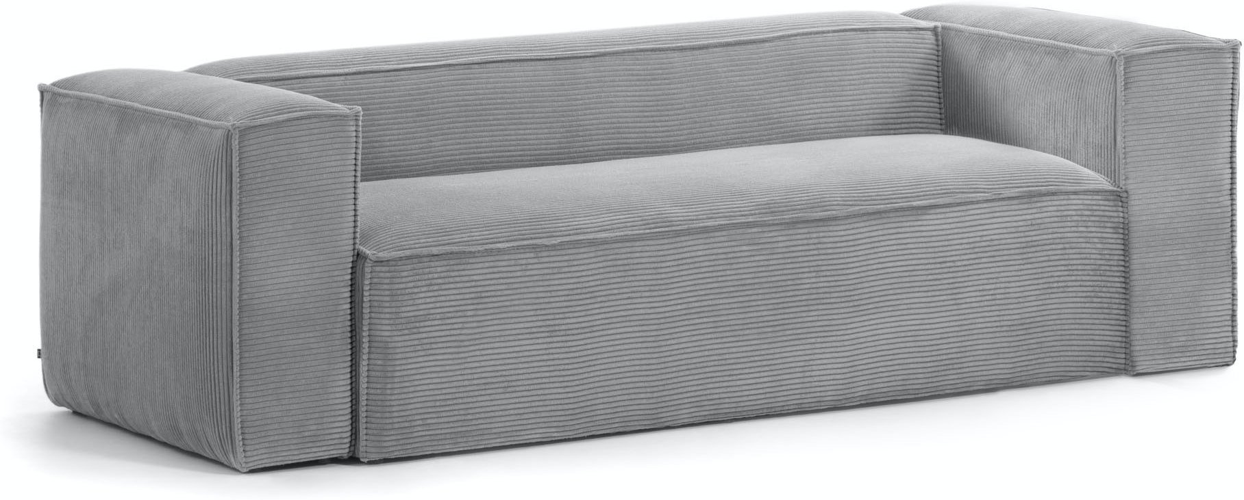 Blok, 3-personers sofa, Fjøjl by LaForma (H: 69 cm. B: 210 cm. L: 100 cm., Grå)