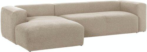 På billedet ser du variationen Blok, Sofa med chaiselong, Venstrevendt, Stof fra brandet LaForma i en størrelse H: 69 cm. B: 330 cm. L: 174 cm. i farven Beige