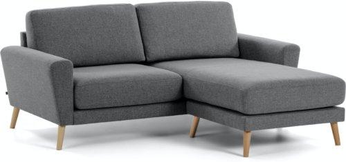 På billedet ser du variationen Narnia, Sofa med chaiselong fra brandet LaForma i en størrelse H: 88 cm. B: 192 cm. L: 160 cm. i farven Sort/natur