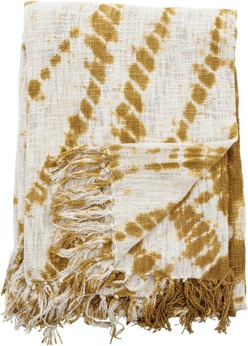 På billedet ser du variationen Filo, Plaid, Gul, Bomuld fra brandet Creative Collection i en størrelse B: 130 cm. L: 160 cm. i farven Gul
