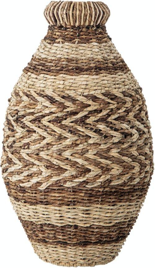 På billedet ser du variationen Nephi, Deko Kurv, Brun, Bankuan Grass fra brandet Creative Collection i en størrelse D: 30,5 cm. H: 54,5 cm. i farven Brun