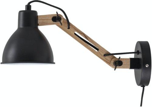 På billedet ser du variationen Engin, Væglampe, Sort, Metal fra brandet Bloomingville i en størrelse H: 15 cm. B: 42 cm. L: 14 cm. i farven Sort