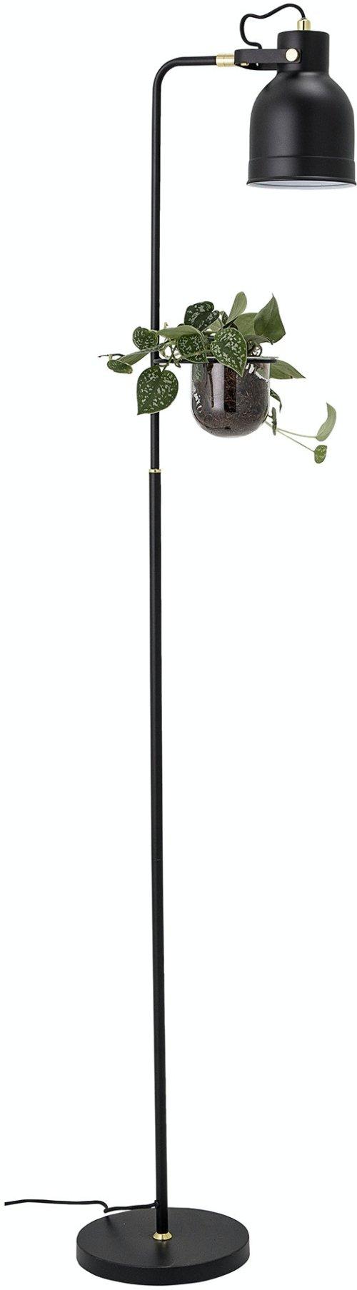På billedet ser du variationen Agnete, Gulvlampe, Sort, Metal fra brandet Bloomingville i en størrelse H: 158 cm. B: 33 cm. L: 23 cm. i farven Sort