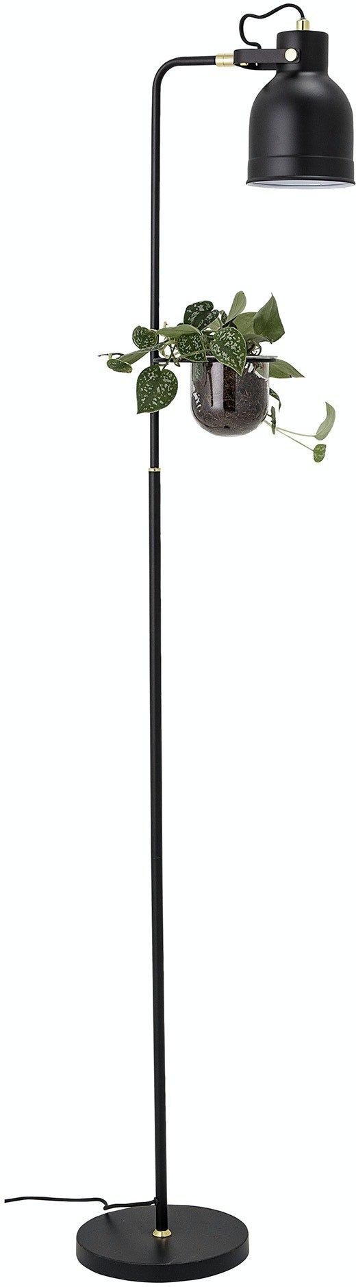Køb Agnete, Gulvlampe, Sort, Metal by Bloomingville (H: 158 cm. B: 33 cm. L: 23 cm., Sort)