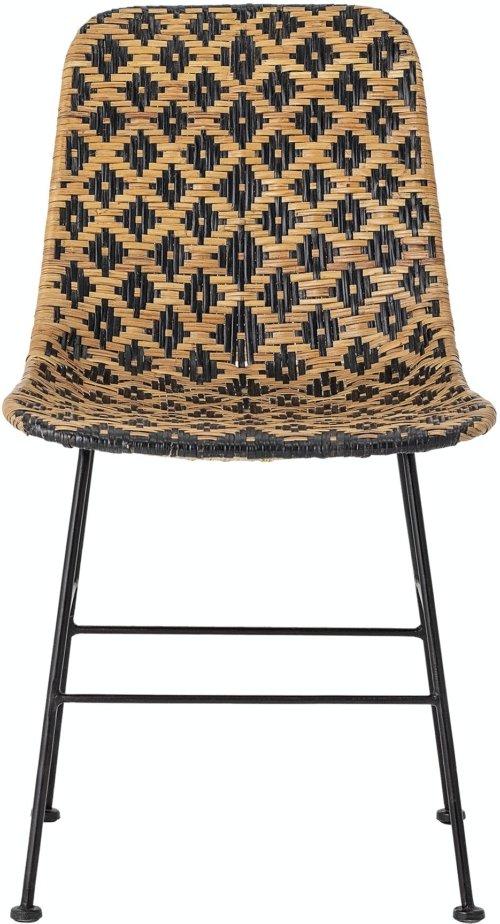 På billedet ser du variationen Kitty, Spisebordsstol, Sort, Rattan fra brandet Bloomingville i en størrelse H: 80 cm. B: 55 cm. L: 44 cm. i farven Sort