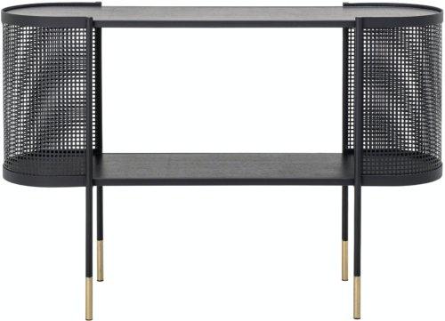På billedet ser du variationen Midou, Konsolbord, Sort, Metal fra brandet Bloomingville i en størrelse H: 80 cm. B: 36 cm. L: 120 cm. i farven Sort