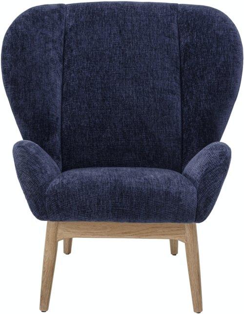 På billedet ser du variationen Eave, Loungestol, Blå, Polyester fra brandet Bloomingville i en størrelse H: 100 cm. B: 100 cm. L: 90 cm. i farven Blå