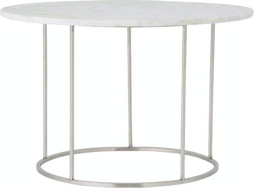 På billedet ser du variationen Bera, Sofabord, Hvid, Marmor fra brandet Bloomingville i en størrelse D: 60 cm. H: 40 cm. i farven Hvid