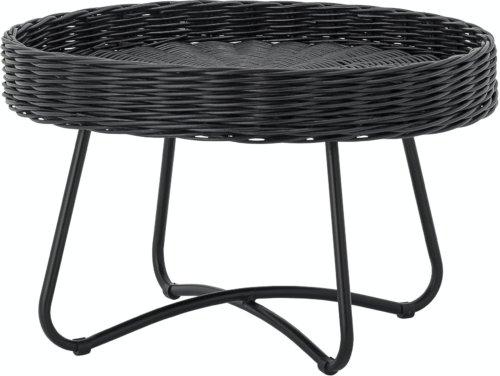 På billedet ser du variationen Hattie, Sofabord, Sort, Rattan fra brandet Bloomingville i en størrelse D: 60 cm. H: 40 cm. i farven Sort
