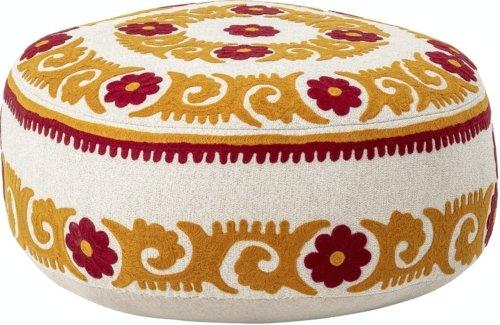 På billedet ser du variationen Vija, Puf, Orange, Bomuld fra brandet Creative Collection i en størrelse D: 65 cm. H: 30 cm. i farven Orange