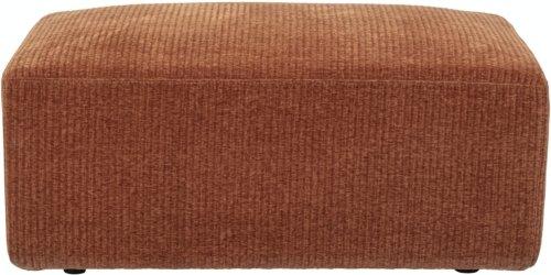 På billedet ser du variationen Petra, Puf, Brun, Polyester fra brandet Bloomingville i en størrelse H: 40 cm. B: 60 cm. L: 95 cm. i farven Brun