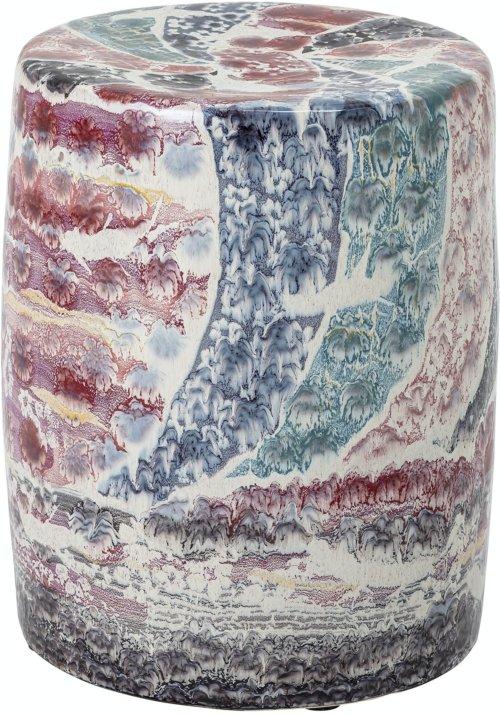På billedet ser du variationen Hubba, Taburet, Stentøj fra brandet Creative Collection i en størrelse D: 37 cm. H: 44,5 cm. i farven Multi