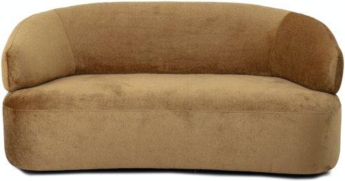 På billedet ser du variationen Coil, Sofa, Brun, Polyester fra brandet Bloomingville i en størrelse H: 79 cm. B: 96 cm. L: 172 cm. i farven Brun
