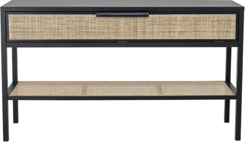 På billedet ser du variationen Alona, Konsolbord, Sort, Fyr fra brandet Bloomingville i en størrelse H: 80 cm. B: 38 cm. L: 140 cm. i farven Sort