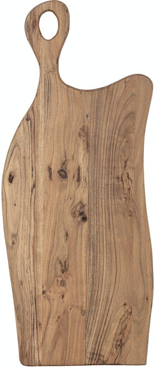 På billedet ser du variationen Helene, Skærebræt, Brun, Akacie fra brandet Bloomingville i en størrelse H: 2,5 cm. B: 38 cm. L: 91,5 cm. i farven Brun
