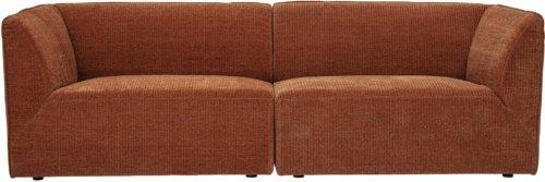 På billedet ser du variationen Petra, Sofa, Brun, Polyester fra brandet Bloomingville i en størrelse H: 73 cm. B: 85 cm. L: 230 cm. i farven Brun
