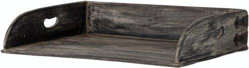 På billedet ser du variationen Adrian, Bakke, Sort, Genanvendt træ fra brandet Bloomingville i en størrelse H: 10 cm. B: 38 cm. L: 53 cm. i farven Sort