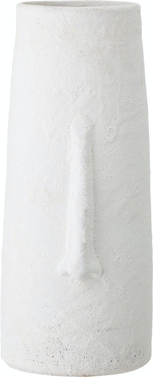På billedet ser du variationen Berican, Deko Vase, Hvid, Terrakotta fra brandet Bloomingville i en størrelse D: 17,5 cm. H: 40 cm. i farven Hvid