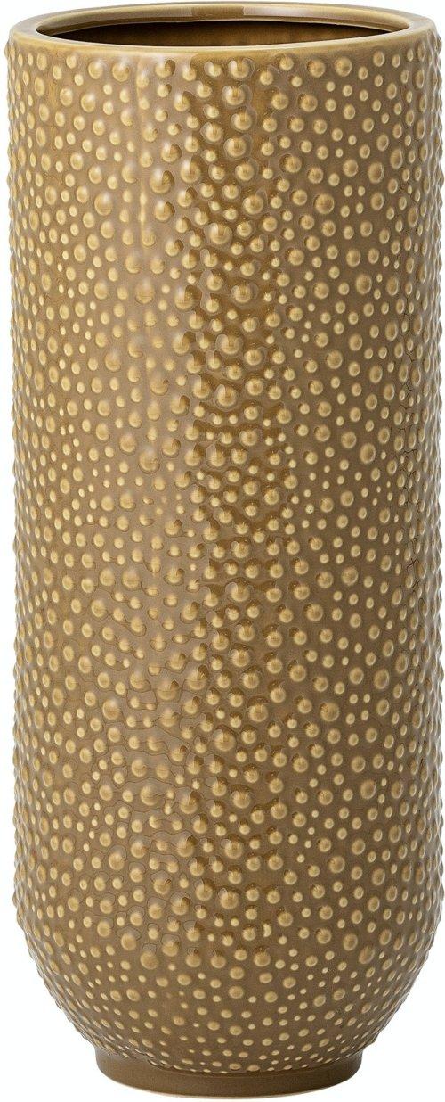 På billedet ser du variationen Dario, Vase, Gul, Stentøj fra brandet Bloomingville i en størrelse D: 20 cm. H: 50 cm. i farven Gul