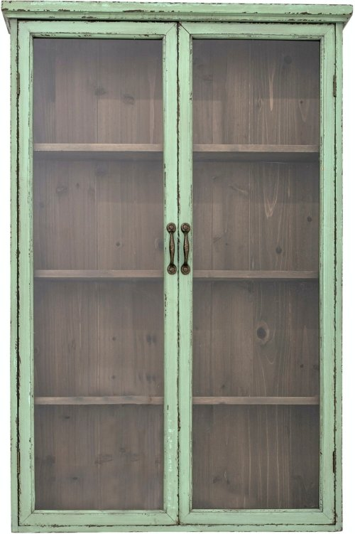 På billedet ser du variationen Hazem, Vitrineskab, Grøn, Grantræ fra brandet Creative Collection i en størrelse H: 122 cm. B: 22 cm. L: 81 cm. i farven Grøn