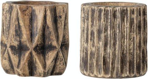 På billedet ser du variationen Bernard, Deko Urtepotte, Brun, Genanvendt træ (Sæt á 2 stk.) fra brandet Creative Collection i en størrelse D: 13 cm. H: 13 cm. i farven Brun