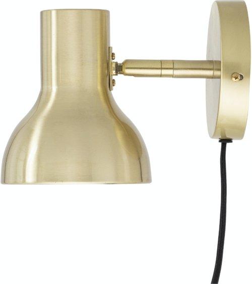 På billedet ser du variationen Jamella, Væglampe, Messing, Metal fra brandet Bloomingville i en størrelse H: 16 cm. B: 13 cm. L: 21 cm. i farven Messing
