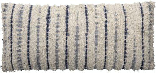 På billedet ser du variationen Adam, Pude, Blå, Bomuld fra brandet Bloomingville i en størrelse B: 40 cm. L: 90 cm. i farven Blå