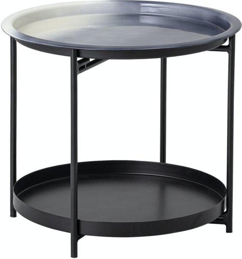 På billedet ser du variationen Adelina, Sidebord, Grå, Metal fra brandet Bloomingville i en størrelse D: 45 cm. H: 45 cm. i farven Grå