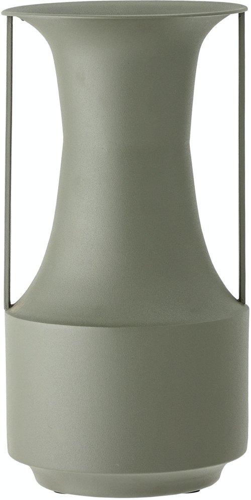 På billedet ser du variationen Irati, Vase, Grøn, Metal fra brandet Bloomingville i en størrelse D: 20 cm. H: 39,5 cm. i farven Grøn