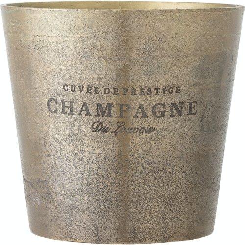 På billedet ser du variationen Arissa, Champagnekøler, Messing, Aluminium fra brandet Bloomingville i en størrelse D: 23 cm. H: 22,5 cm. i farven Messing