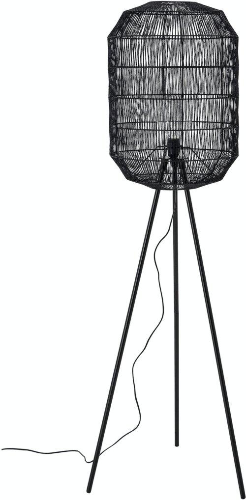 På billedet ser du variationen Berta, Gulvlampe, Sort, Metal fra brandet Bloomingville i en størrelse H: 160 cm. B: 50 cm. L: 51 cm. i farven Sort