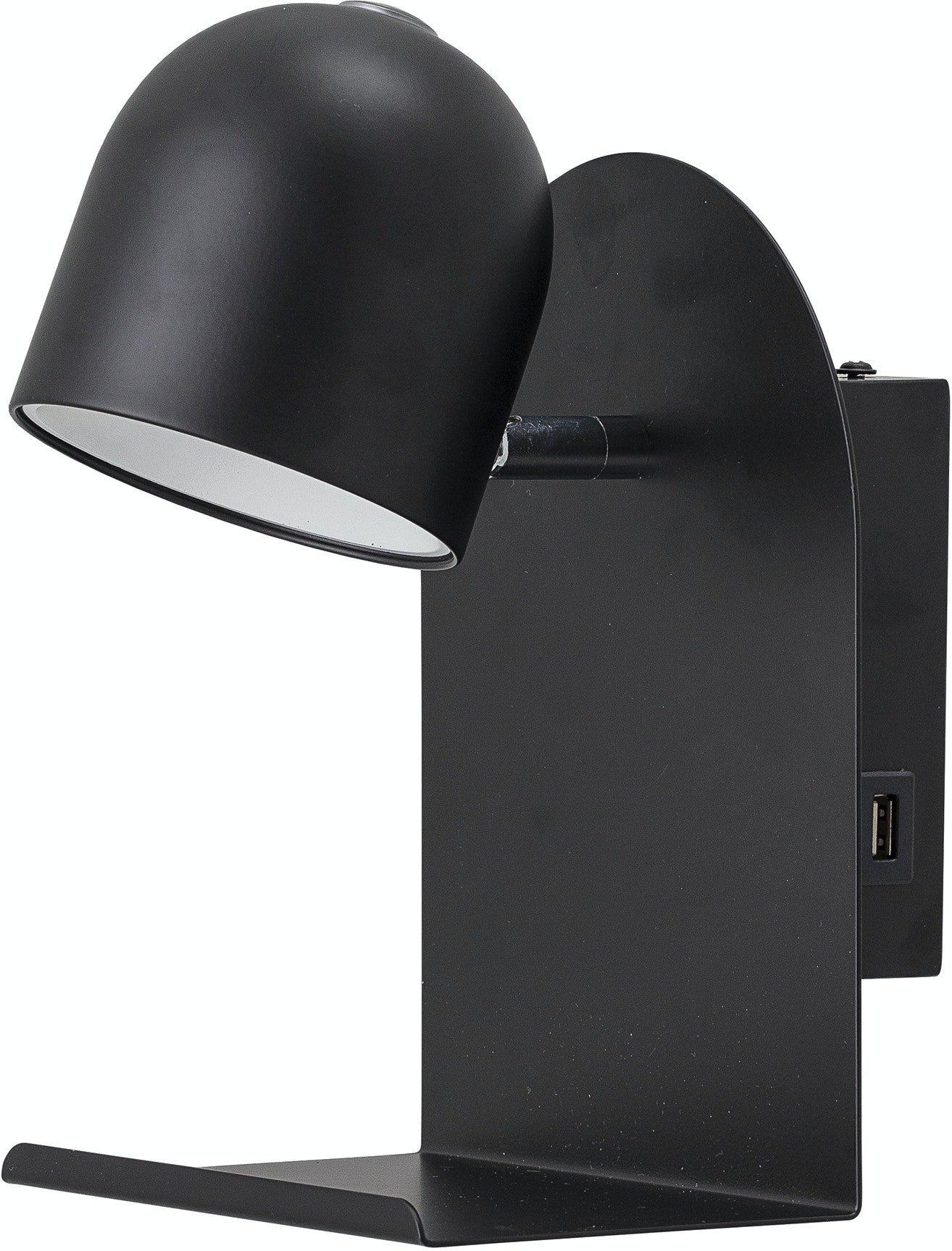 Køb Qasim, Væglampe, Sort, Metal by Bloomingville (H: 21 cm. B: 20 cm. L: 16 cm., Sort)
