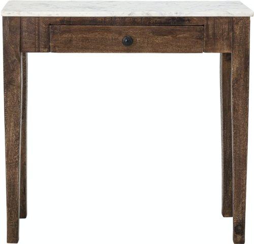 På billedet ser du variationen Hauge, Sidebord, Hvid, Marmor fra brandet Creative Collection i en størrelse H: 76 cm. B: 28 cm. L: 79 cm. i farven Hvid