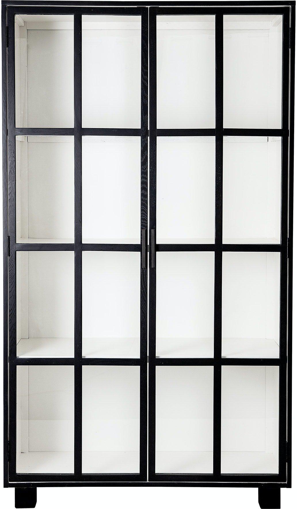 Køb Isabel, Vitrineskab, Sort by Bloomingville (H: 200 cm. B: 43 cm. L: 114 cm., Sort)