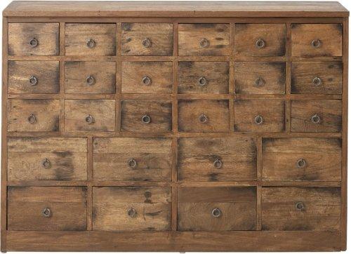 På billedet ser du variationen Faucon, Kommode, Brun, Genbrugstræ fra brandet Creative Collection i en størrelse H: 78 cm. B: 32 cm. L: 112 cm. i farven Brun
