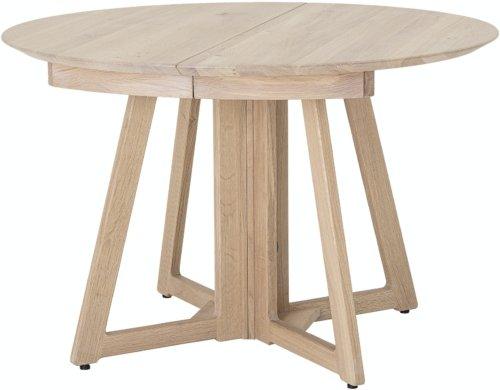 På billedet ser du variationen Owen, Spisebord, Natur, Eg fra brandet Bloomingville i en størrelse D: 118 cm. H: 75 cm. i farven Natur