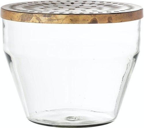På billedet ser du variationen Tula, Vase, Klar, Glas fra brandet Creative Collection i en størrelse D: 24 cm. H: 20 cm. i farven Klar