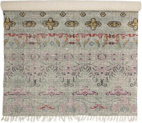 På billedet ser du variationen Radu, Tæppe, Blå, Bomuld fra brandet Creative Collection i en størrelse B: 120 cm. L: 180 cm. i farven Blå