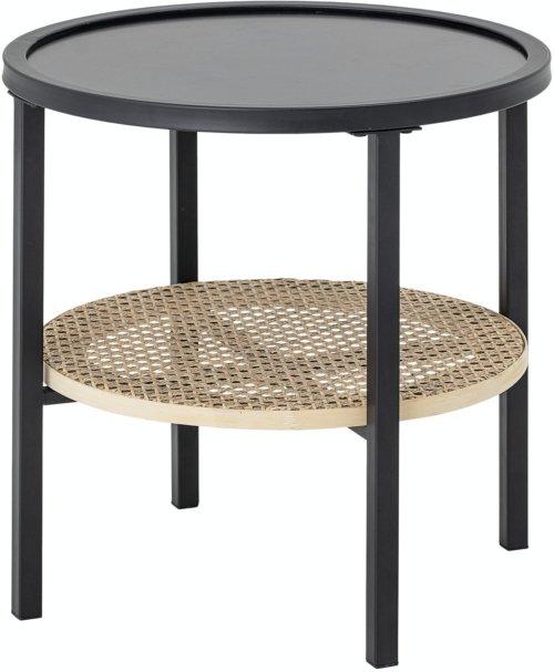 På billedet ser du variationen Renata, Sidebord, Sort, Metal fra brandet Bloomingville i en størrelse D: 45 cm. H: 45 cm. i farven Sort
