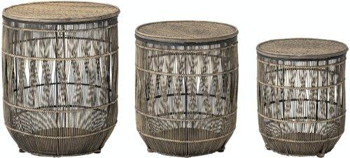 På billedet ser du variationen Tonja, Sidebord, Brun, Bambus (Sæt á 3 stk.) fra brandet Creative Collection i en størrelse D: 37 cm. H: 46 cm. i farven Brun