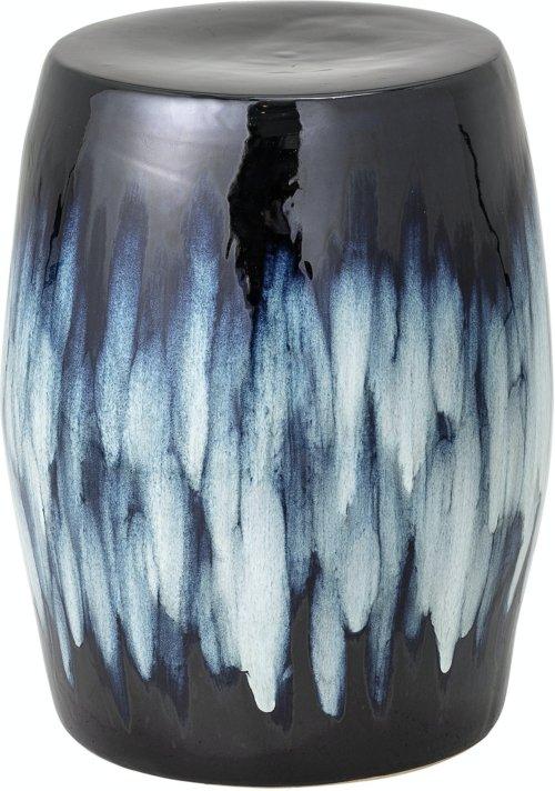 På billedet ser du variationen Ana, Taburet, Blå, Stentøj fra brandet Bloomingville i en størrelse D: 38 cm. H: 47,5 cm. i farven Blå