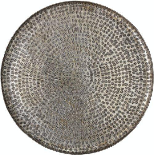 På billedet ser du variationen Bano, Bakke, Grå, Aluminium fra brandet Bloomingville i en størrelse D: 50 cm. H: 3 cm. i farven Grå