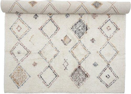 På billedet ser du variationen Yota, Tæppe, Natur, Bomuld fra brandet Creative Collection i en størrelse B: 120 cm. L: 180 cm. i farven Natur
