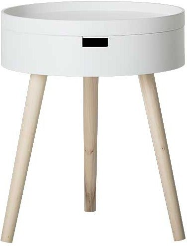 På billedet ser du variationen Kem, Sidebord, Hvid, Fyr fra brandet Bloomingville i en størrelse D: 38 cm. H: 47 cm. i farven Hvid