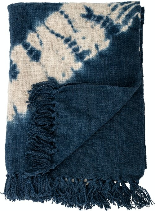 På billedet ser du variationen Fatana, Plaid, Blå, Bomuld fra brandet Bloomingville i en størrelse B: 125 cm. L: 150 cm. i farven Blå