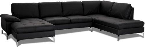 På billedet ser du variationen Alton, U-Sofa, Ægte læder fra brandet Raymond & Hallmark i en størrelse Venstre-vendt i farven Sort