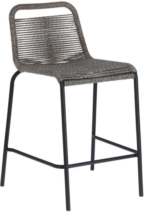 På billedet ser du variationen Lambton, Udendørs barstol fra brandet LaForma i en størrelse H: 88 cm. B: 48 cm. L: 55 cm. i farven Grå/Sort